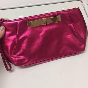 Victoria's Secret pink wristlet or makeup pouch